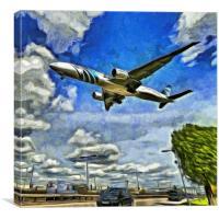Airliner Art, Canvas Print