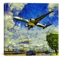 Airliner Vincent Van Gogh, Canvas Print