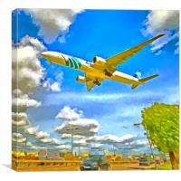 Airliner Pop Art, Canvas Print