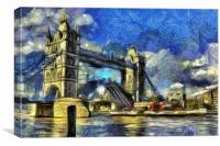 Tower Bridge Waverley Art, Canvas Print