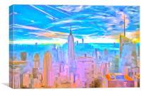 Manhattan Skyline Pop Art, Canvas Print