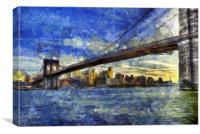 Brooklyn Bridge Van Gogh, Canvas Print
