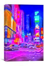 Times Square Pop Art, Canvas Print