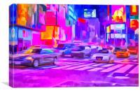 Pop Art Times Square , Canvas Print
