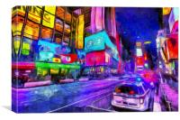 Times Square Van Gogh , Canvas Print