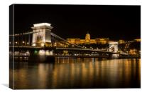 Budapest At Night , Canvas Print