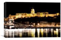 Budapest At Night Art, Canvas Print