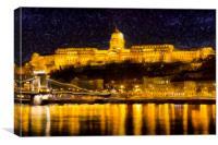 Budapest Night Art, Canvas Print