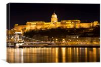 Budapest At Nighttime , Canvas Print