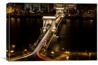 Budapest Chain Bridge, Canvas Print
