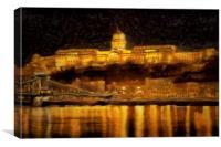 Budapest Van Gogh, Canvas Print