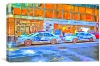 NYPD Cars Pop Art, Canvas Print