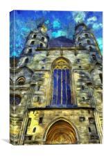 St Stephens Cathedral Vienna Van Goth, Canvas Print