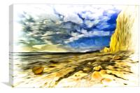 Birling Gap Art, Canvas Print