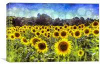 Sunflowers Van Goth, Canvas Print