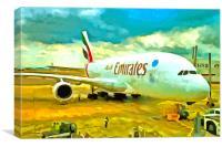 Emirates A380 Airbus Pop Art, Canvas Print