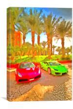Dubai Super Cars Pop Art, Canvas Print