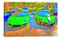 Lamborghini McLaren Pop Art, Canvas Print