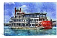 New Orleans Paddle Steamer Art, Canvas Print