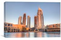 Dubai Sunset Architecture, Canvas Print