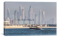 Dubai Yacht And Architecture, Canvas Print