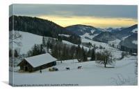 Winter in Switzerland, Canvas Print