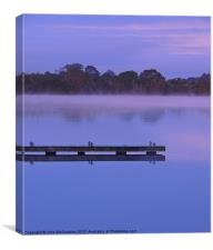 Misty Morning at Muckross, Canvas Print