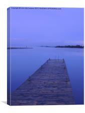 Lough Erne Jetty at Dawn, Canvas Print