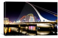 Samuel Beckett Bridge, Canvas Print