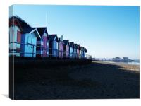 Cromer Beach Huts and Pier, Canvas Print