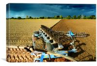 Ploughing in Norfolk, Canvas Print