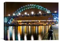 Tyne Bridge Night, Canvas Print