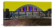 Tyne Bridge Stylized, Canvas Print