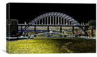 Tyne Bridge Stylized, Canvas Print