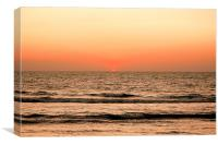sunset at Anjuna Beach Goa, Canvas Print