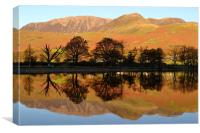 Reflections on Buttermere, Canvas Print