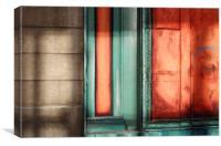Orange Wall , Canvas Print