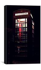 Telephone box, Canvas Print