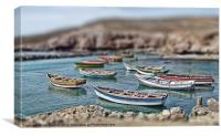 TOY BOATS, Canvas Print
