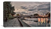 BRIDGE OVER THE RIVER MEDWAY, Canvas Print