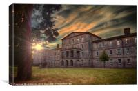 SUNSET OVER BARMING ASYLUM, Canvas Print