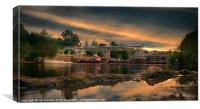 SUNSET AT EAST FARLEIGH WEIR, Canvas Print
