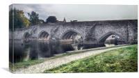 A VIEW TO A BRIDGE, Canvas Print