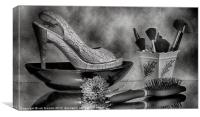 ALL ABOUT THE SHOES, Canvas Print