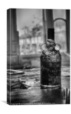AN OLD BOTTLE OF RUM, Canvas Print