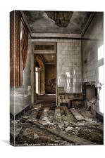 DECAYING TILES, Canvas Print