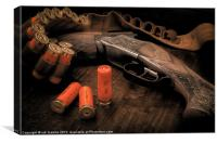 TWIN BARREL AND BRASS, Canvas Print