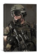 PORTRAIT OF A SOLDIER, Canvas Print