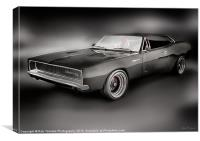 DODGE CHARGER PAINTING, Canvas Print
