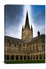 Norwich City Cathedral, Canvas Print